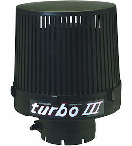 Offering the same superior protection against damaging micro abrasive dust as the turbo II, this is our latest generation precleaner, the turbo III.